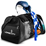 Longevity Gear Mesh Bag | Duffle Bag | Boxing Bag | Gym Bag | MMA, BJJ, Swimmers, Active Athletes | Breathable Duffel Bag for