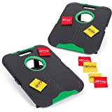 """EastPoint Sports Go! Gater Corn Hole Outdoor Game - 24"""" x 18"""" Junior Size Portable Waterproof Bean Bag Toss Set - Includes 8"""
