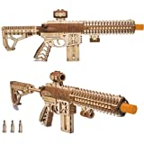 Wood Trick Assault Gun AR-T Model Kit for Adults and Teens to Build - with Telescoping Butt, Fuse, Sight and Clip for 12 Roun