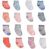 Little Me Baby Socks With Fun Patterns, Set of 16 Pairs Of Cute Infant Socks; 8 Pairs 0-12 Months & 8 Pairs 12-24 Months