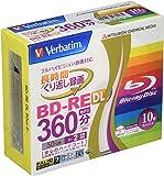 Verbatim バーベイタム くり返し録画用 ブルーレイディスク BD-RE DL 50GB 10枚 ホワイトプリンタブル 片面2層 1-2倍速 VBE260NP10V1