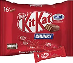 Nestlé Kit Kat Chunky Mini Milk Chocolate Snack Pack (Pack of 16)