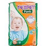 PET PET Jumbo Pants Diapers XL, 38 Count