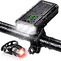 Bestore 自転車 ライト【5200mAh大容量 USB充電式 】 自転車ヘッドライト 防水 LEDヘッドライト 8…