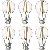 SD LUX LED Light Bulb Base Classic A Lamp B22 Bayonet, 8 W 806 Lumen Filament Lamps, Replaces 75 W Filament Bulb, 2700 K Warm