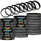 32 Pieces Religious Silicone Wristbands Rubber Bible Verses Bracelets Colored Strength Faith Hope Belief Wristbands Inspirati