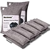Marsheepy 12 Pack Bamboo Charcoal Shoe Deodorizer Bags, Activated Charcoal Odor Absorber, Bamboo Charcoal Air Purifying Bags,
