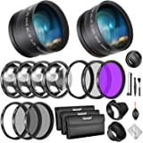 Neewer 58mm Lens and Filter Bundle: Wide Angle Lens, Telephoto Lens and Filter Set (Macro, ND, UV, CPL, FLD) for Canon EOS Re