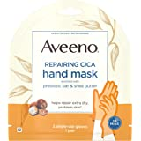 Aveeno Repairing CICA Hand Mask with Prebiotic Oat and Shea Butter for Extra Dry Skin, Paraben-Free and Fragrance-Free, 1 Pai
