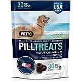 Vetiq Pill Treats, 30 Soft Chews for Dogs, Chicken Flavor, 5.8Oz