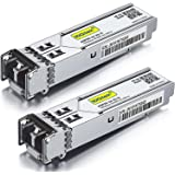 1.25G SFP 1000Base-SX, 850nm MMF, up to 550 Meters, for Cisco GLC-SX-MMD/GLC-SX-MM/SFP-GE-S, Meraki MA-SFP-1GB-SX, Ubiquiti U