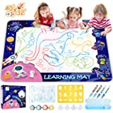 HISTOYE Aqua Magic Water Doodle Mat for Kids Large Size Water Drawing Mat for Toddlers Painting Coloring Mat Pad with Pens Ma