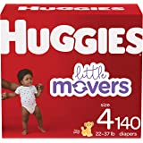 Huggies Little Movers Baby Diapers Size 4, 140 Ct