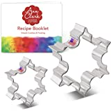"""Ann Clark Cookie Cutters Christmas Snowflake Cookie Cutter Set - 2 Piece - 2 1/2"""" & 3 1/2"""" - USA Made Steel"""