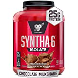 BSN SYNTHA-6 ISOLATE Protein Powder, 48 servings, Chocolate Milkshake, 64.32 Oz