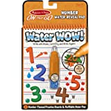 Melissa & Doug 5399 On The Go Water Wow! Numbers Activity Book with 4 Practice Boards and Water Pen,Orange