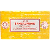 Satya Nag Champa Sandalwood Incense Sticks 15 grams x 12 Packs 180 Grams Total