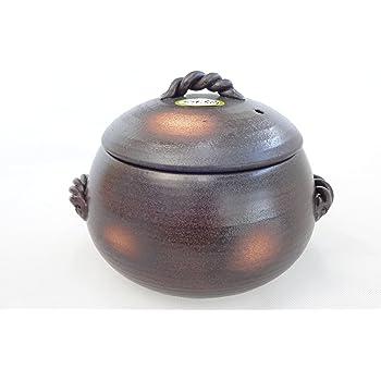 Amazon|三鈴窯 ごはん土鍋 日本製 萬古焼 三合炊き|土鍋 ...