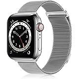 FRESHCLOUD コンパチブル apple watch バンド コンパチブル アップルウォッチバンド 38mm 40mm 42mm 44mm ステンレス留め金製 コンパチブル iwatch series 7/6/5/4/3/2/1/SEに対応 磁