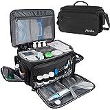 Mancro Nurse Bag,Medical Supplie Bag with Inner Divider&No-Slip Bottom Water-Resistant Trauma Bag with Shoulder Strap for Hom