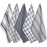 "DII Cotton Luxury Assorted Kitchen Dish Towels, 18 x 28"" Set of 5, Ultra Absorbent Fast Dry, Professional Grade Tea Towels fo"