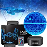 3D Star Wars Lamp - Star Wars Gifts - Star Wars Light - Star Wars Lamp& Perfect Gifts for Kids and Star Wars Fans(3 pcs)