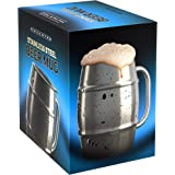 Nuvantee Beer Mug – Premium Stainless Steel Mug / Coffee Cup With Bonus Lid – 16.9 OZ Double Wall Air Insulated - Better Then