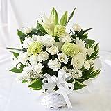 花由 お供え生花アレンジメント ユリ入りSサイズ 白のみ マケプレお急ぎ便 冷蔵便でお届け