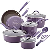 Rachael Ray 16783 Cucina Cookware Set, Lavender