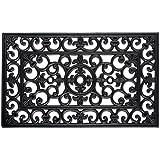 DII Rubber Doormat for Indoor and Outdoor Entryway, Front Door, & Patio - 18x30, Lotus Welcome