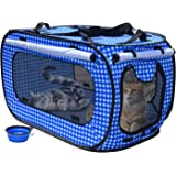Rolscaler 猫ポータブルケージ 折りたたみ ペットサークル 猫犬用のゲージ 内屋外用 アウトドア 旅行 ゲージ 猫 犬 ゲージ
