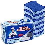 MR.SIGA Non-Scratch Cellulose Scrub Sponge, Dual-Sided Dishwashing Sponge for Kitchen, 12 Pack
