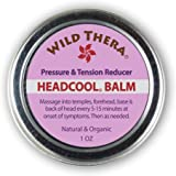 Wild Thera Herbal Migraine Headache Relief Balm with Essential Oils. Sinus Tension Headache Soother. Safely use with Headache