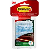 Command Outdoor Rope Light Clips with Foam Strips, Clear, 12-Clips (17301CLRAW-ES)