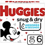 Huggies Snug & Dry Diapers, Size 6, 62 Ct