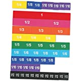 Learning Resources LER0611 Magnetic Rainbow Fraction Tiles 8 x 9 x 0.2 inches