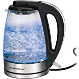 Hamilton Beach 1.7 L Glass Electric Kettle for Tea and Water, Cordless, LED Indicator, Auto-Shutoff and Boil-Dry Protection,