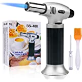 Butane Torch,SPLAKS Culinary Blow Torch Chef Cooking Torch Lighter, Butane Refillable, Flame Adjustable (MAX 2500°F) with Saf