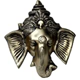 """StonKraft - 6"""" Brass Ganesh Door Hanging - Beautiful Ganesh, Ganpat, Ganapati, Ganapathi, Ganesha Face Wall Hanging for Door"""
