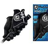 Footjoy Women's RainGrip Golf Gloves, Pair (Black)