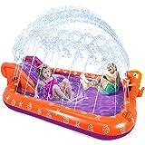 "Splash Pad Sprinkler for Kids, Toddlers Inflatable Wading Pool 90"" with Slide, Sprinkler Play Mat for 3 4 5 6 7 Year Old Kidd"