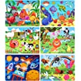 Puzzles for Kids Ages 4-8, Wooden Jigsaw Puzzles 60 Pieces Preschool Toddler Puzzles Set for Boys and Girls(6 Puzzles)