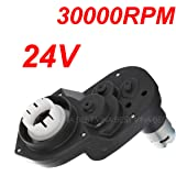 24V Gearbox for Kids Ride-Ons Accessories, 24 Volt Motor 30000RPM with Gear Box for Kids Pink Princess Carriage Ride On Parts