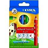 リラ LYRA 文具 色鉛筆 三角グリップ クレヨン 水彩色鉛筆 美しい発色 グルーヴトリプルワン 6色セット