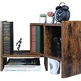 OROPY Vintage Expandable Desktop Organizer Adjustable Bookshelf, Tabletop Display Storage Shelf for Books, Spices, Cosmetics