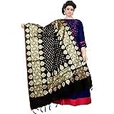 ziya Dupatta Bazaar Woman's Gold Embroidered Banarasi Dupatta