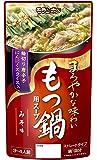 モランボン 旨だし仕込み もつ鍋用スープ コクのみそ味 750g×10袋