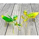GIFTME 5 Metal Mantis Garden Yard Art Decor Set of 2 Lawn Patio Tree Ornaments Sculpture