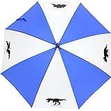 かっこいい! 男児に人気 身長140cm位までのお子様に最適! 軽くて丈夫なグラスファイバー骨 恐竜 骨 化石 55cm ジャンプ傘 子供用傘 (ブルー)