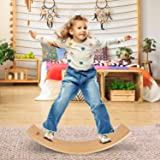 Yes4All Wooden Balance Kindergarten – Balance Board Kids/Wobble Balance Board for Toddlers with 500lbs Weight Capacity